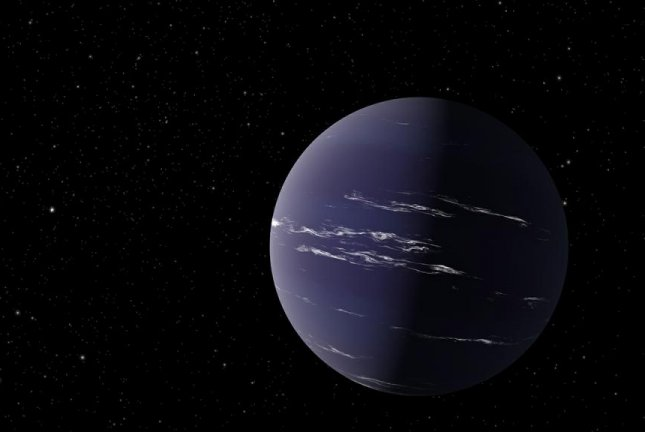 An artistic rendering shows TOI-1231 b, a Neptune-like planet located roughly 90 light years from Earth. Image by NASA/JPL-Caltech