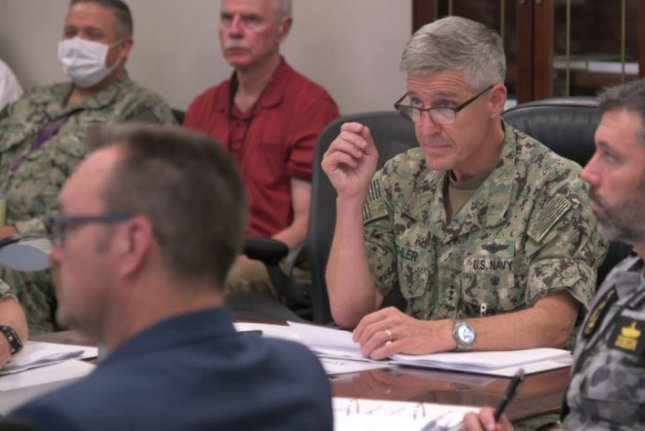 Vice Adm. Steve Koehler, commander, U.S. 3rd Fleet and other coordinators of RIMPAC, regarded as the world's largest maritime training exercise, joined about 300 personnel at Naval Base Point Loma, Calif., to plan the 2022 event. Photo courtesy of U.S. 3rd Fleet/U.S. Navy