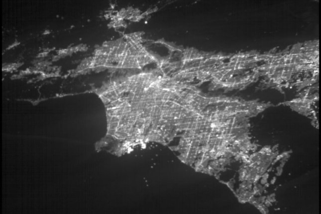 ASTERIA's photo shows what Los Angeles looks like at night from 250 miles above Earth's surface. Photo by NASA/JPL-Caltech