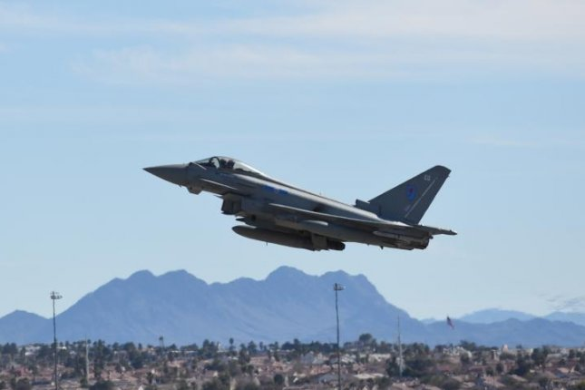 A Royal Air Force Eurofighter Typhoon at the Red Flag 171 exercise. U.S. Air Force photo