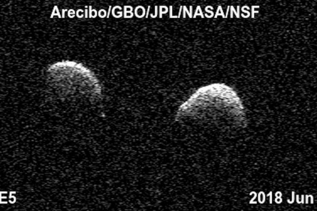 The potential threat from space: the Earth flying two new asteroid