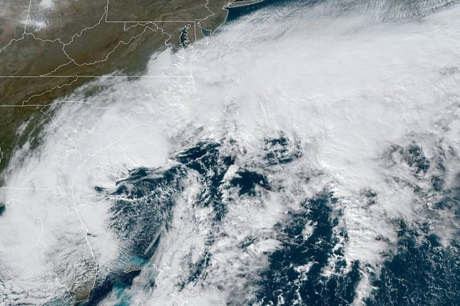 Gale warnings are in effect along the coastline from South Carolina to Maine and storm warnings are in place along the North Carolina coast. Photo courtesy of NOAA