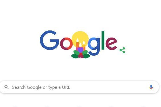 Google's Doodle Monday celebrates the winter holidays. Photo courtesy of Google