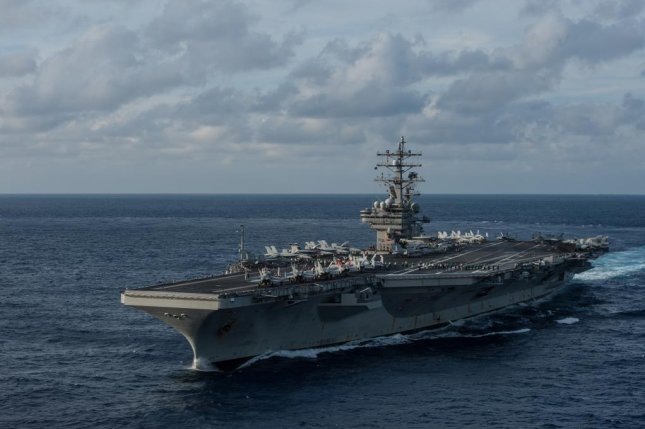 USS Ronald Reagan is the U.S. Navy's only forward-deployed carrier. The Ronald Reagan Carrier Strike Group began an annual training event with the Japan Maritime Self-Defense Force on Monday. U.S. Navy photo by Mass Communication Specialist 3rd Class Nathan Burke/Released