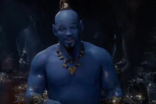 Watch Will Smith Debuts As Blue Genie In Aladdin Trailer
