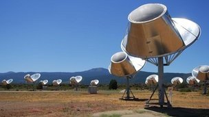 The Seti Allen Telescope Array in Northern California. Credit: Seti Institute.