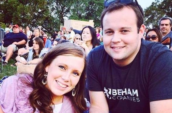 Anna Duggar with her husband Josh Duggar. Anna has kept a low profile in the wake of Josh's cheating scandal but recently made a rare public appearance during a night out with cousin Amy King. Photo courtesy of Josh Duggar/Instagram