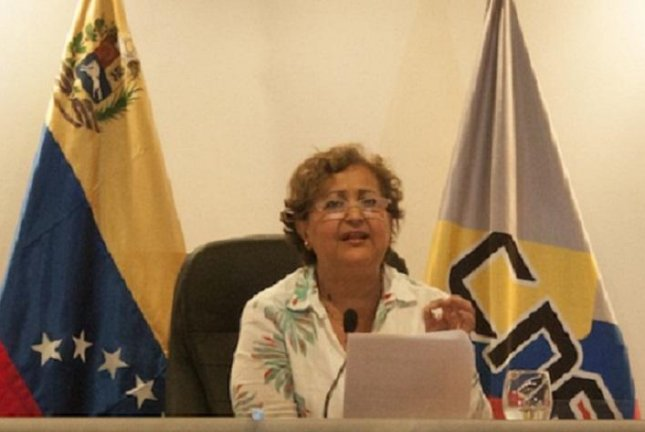 Venezuela's National Electoral Council President Tibisay Lucena on Monday confirmed the Democratic Unity Roundtable opposition coalition gathered enough signatures to move to the second phase of a recall referendum process against embattled President Nicolas Maduro. Photo courtesy of National Electoral Council