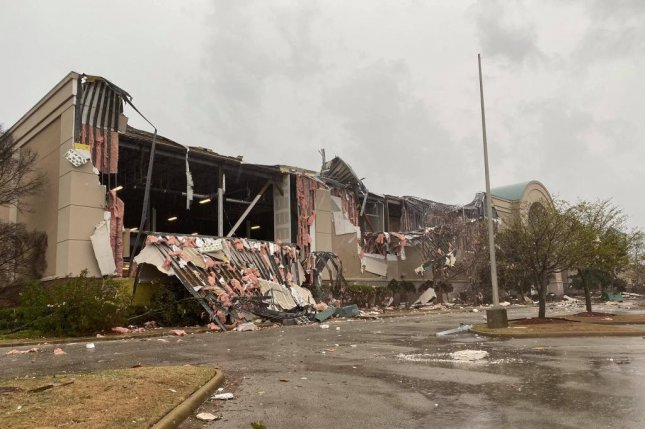 A tornado ripped through Jonesboro, Ark, including heavily damaging the Mall at Turtle Creek. Photo courtesy Jonesboro Police Department/Facebook
