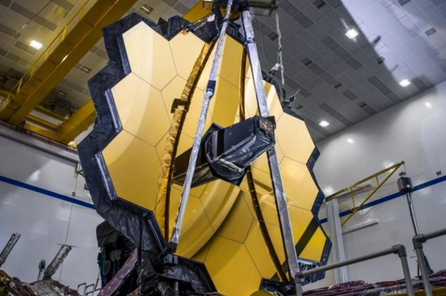 The James Webb Space Telescope was fully assembled for the first time in 2019 and is scheduled to be launched October 31. Photo courtesy of Northrop Grumman