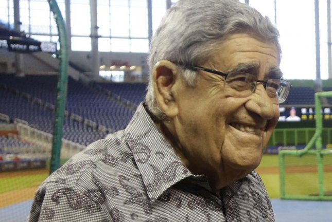Hall of Fame broadcaster Rafael Felo Ramirez, who served as the Spanish radio voice of the Miami Marlins since their inaugural season, died on Monday at the age of 94. Photo courtesy of MLB/Twitter