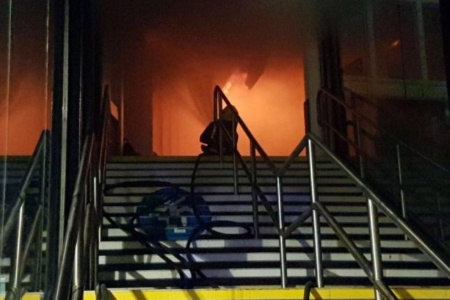 Nottingham train station closed after large blaze broke out
