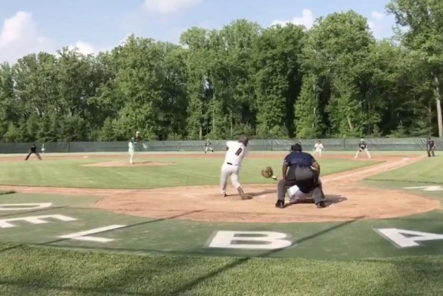 Jack Leiter throws the last pitch in his no-hitter for Delbarton against Don Bosco Prep in the high school baseball playoffs in the North Jersey, Non-Public A tournament Friday in Ramsey, N.J. Photo courtesy of Al Leiter/Twitter.