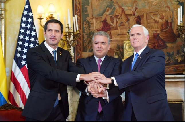 Vie President Mike Pence joins leaders of the Group of Lima in Bogota, Colombia, on Monday. Photo courtesy Vice President Mike Pence