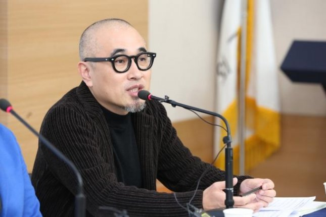 Woowa Brothers CEO Kim Bong-jin speaks during a recent press conference in Seoul. Photo by UPI News Korea