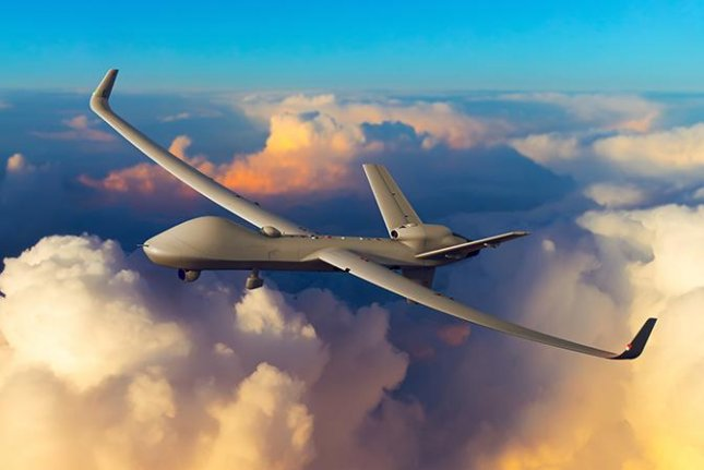 The advanced Certifiable Predator B remotely piloted aircraft to be procured by Britain. Photo courtesy General Atomics