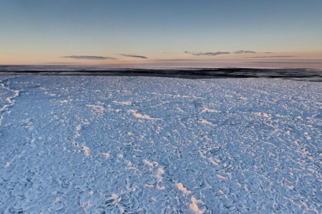 The ice among Antarctica's polynyas resembles the scales of dragon. Photo by Institute for Marine and Antarctic Studies