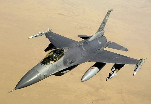 F-16 courtesy of the U.S. Department of Imagery via Wikipedia