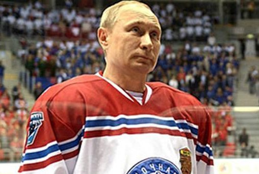 Russian President Vladimir Putin took part in a hockey game against students players from the Sirius academy for gifted children at the Shaiba area in Sochi. Photo courtesy of Kremlin.Ru