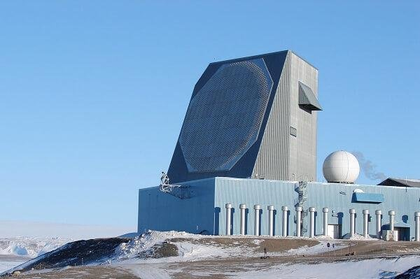The Solid State Phased Array Radar System at Thule Site J in Greenland, a U.S. Air Force radar station. Photo courtesy of the Department of Defense