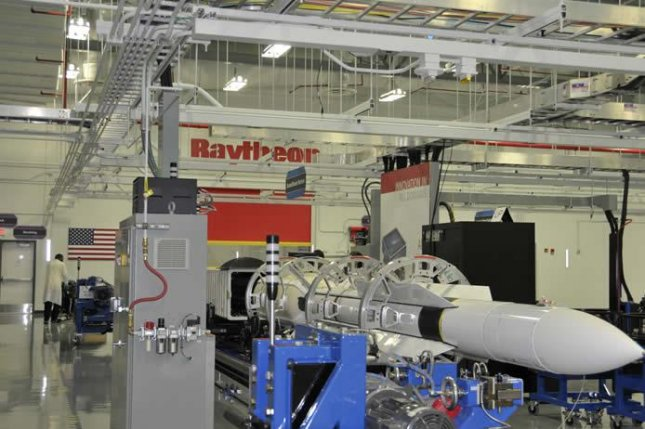 A Standard Missile-6 is constructed at Raytheon's facility in Huntsville, Ala. Support work on the missile is done in Tucson, Ariz. Photo courtesy of Raytheon