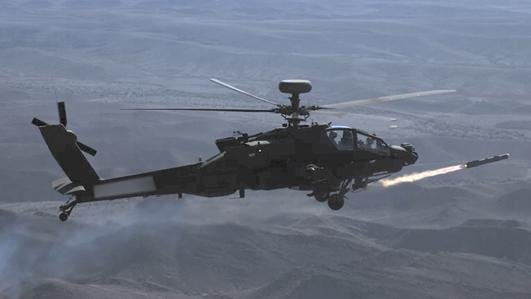 MBDA and Boeing have successfully completed a series of physical trials and firings of the Brimstone missile on Britains future fleet of AH-64E Apache attack helicopters, MBDA announced Wednesday. Photo courtesy MBDA