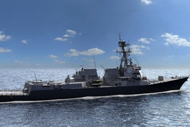 The USS Jack H. Lucas, pictured in an artist's rendering, will be the first of the Flight III Arleigh Burke-class guided missile destroyers to carry Raytheon's Air and Missile Defense Radar. Photo courtesy of Raytheon