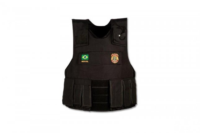 Honeywell's Gold Shield ballistic composite material will be used for new vests being manufactured by Glagio do Brasil for Brazil's Minas Gerais state police. Pictured, a ballistic vest manufactured by Glagio do Brasil. Photo courtesy Glagio do Brasil