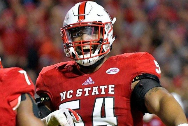 Will Richardson (pictured) said during an interview on SiriusXM NFL Radio that his two-game suspension to start last season was marijuana-related. Photo courtesy of North Carolina State Football/Twitter