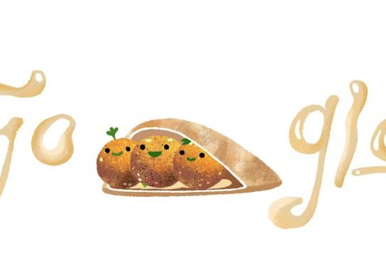 Google is paying homage to falafel with a new Doodle. Image courtesy of Google