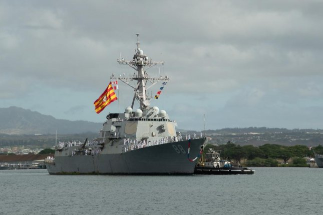 The guided-missile destroyer USS Preble, shown here returning to Joint Base Pearl Harbor-Hickam in June, will undergo a longterm availability for maintenance and modernization. Photo by Seaman Jaimar Carson Bondurant/U.S. Navy