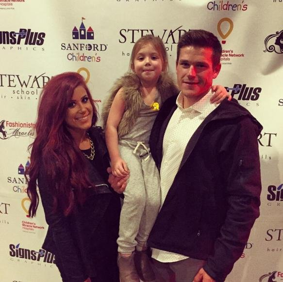 Teen Mom 2's Chelsea Houska with her boyfriend Cole DeBoer and daughter Aubree. Houska announced on Instagram Wednesday that she and DeBoer are now engaged. Photo courtesy of Houska/Instagram