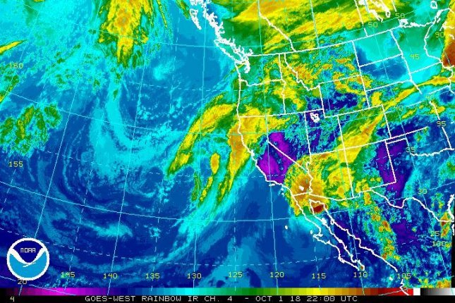 Tropical Storm Rosa is forecast to dump heavy rains on parts of coastal Mexico and, later, the Southwest United States. Image courtesy NOAA