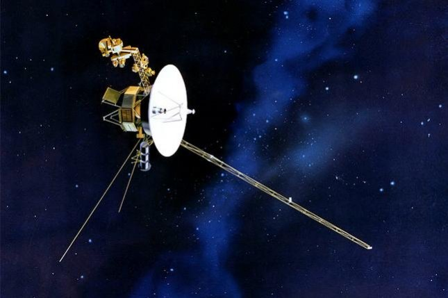 Artist's concept of the Voyager 2 in flight. Voyager 2 launched on August 20, 1977 to study the Jupiter and the Saturn planetary systems including their satellites and Saturn's rings. File photo by NASA/JPL/UPI