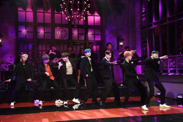 BTS performed on Saturday Night Live this weekend. Photo by Will Heath/NBC