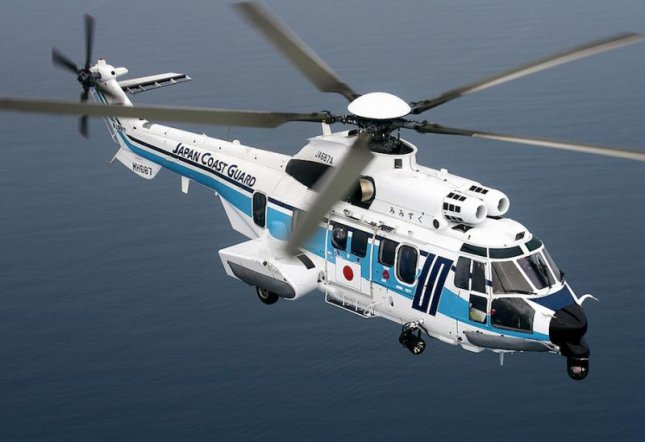 The Japanese coast guard uses its Airbus H225 helicopters for security enforcement, coastal activities and disaster relief. Photo courtesy of Airbus