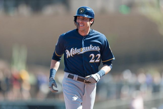 Milwaukee Brewers outfielder Christian Yelich. Photo courtesy of the Milwaukee Brewers/Twitter.