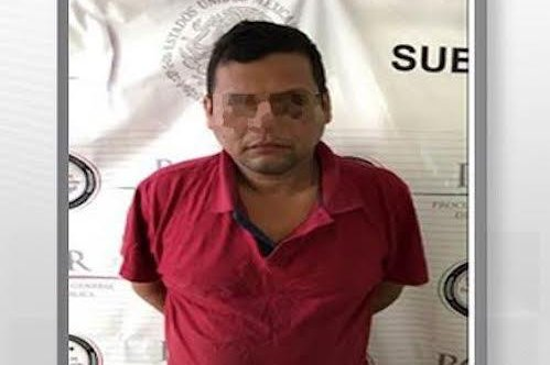 Vicente Rufino N. was captured on Saturday along with his bodyguard by Mexican police in the city of Acapulco in Guerrero state. He is accused of being a leader in Joaquin El Chapo Guzman's Sinaloa Cartel. Photo courtesy of Mexico Attorney General's Office