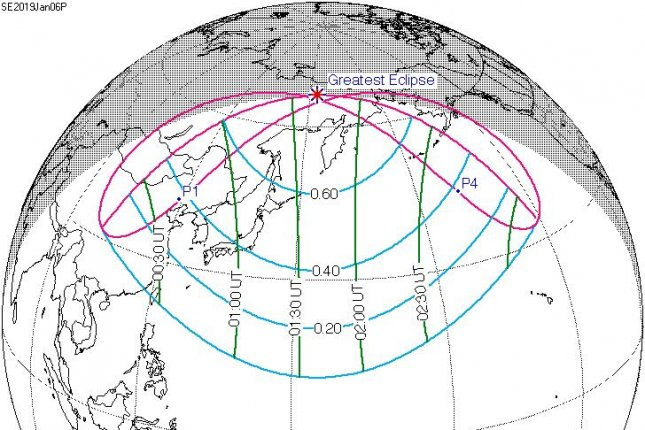 Partial Solar Eclipse Map.Partial Solar Eclipse To Cast Lunar Shadows Across Asia Alaska