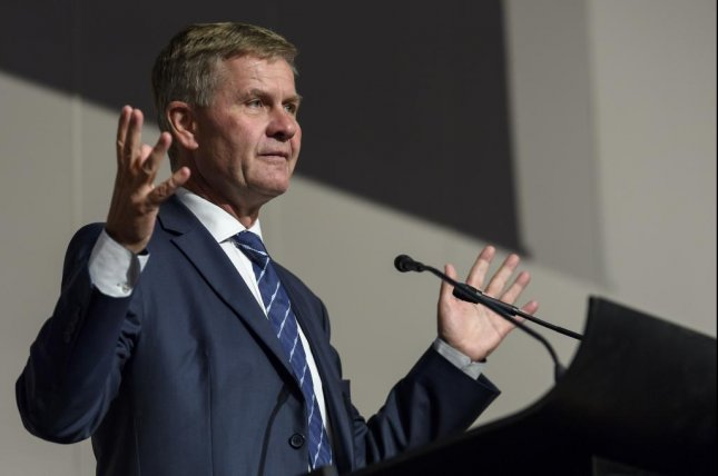 Erik Solheim, head of the U.N. Environmental Program, spoke at the Minamata Convention where Towards a pollution-free planet' was first launched. Photo by Martial Trezzini/EPA