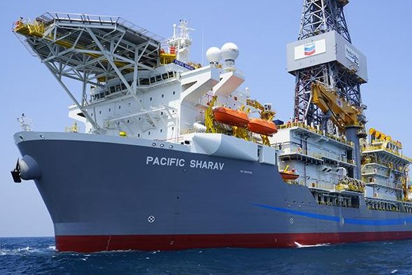 Using a floating drillship, French energy company Total and U.S. supermajor Chevron announce a major new oil discovery in the U.S. Gulf of Mexico. Photo courtesy of Chevron