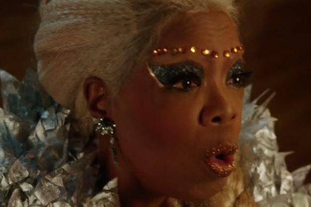 Oprah Winfrey appears as Mrs. Which in a trailer for the upcoming Disney movie A Wrinkle In Time. The film is due out in March. Screen shot courtesy Disney