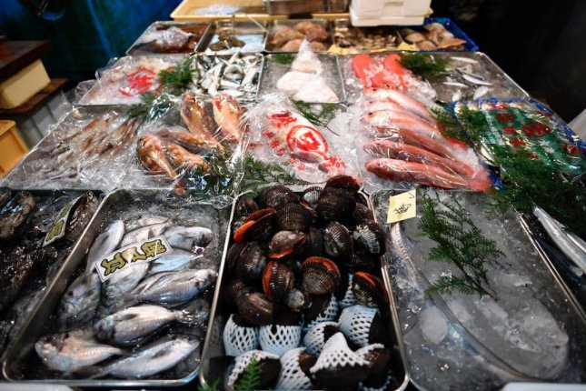 Japanese seafood from Fukushima is banned in South Korea. File Photo by Franck Robichon/EPA-EFE