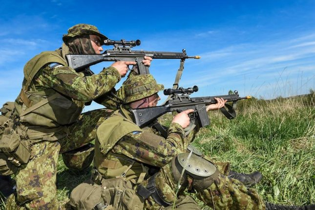 Estonian troops during NATO exercise earlier this year. (U.S. Air Force photo/Staff Sgt. Andrew Davis)