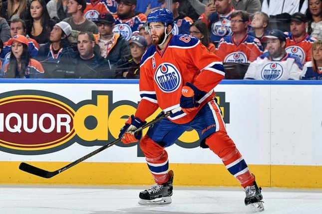 Edmonton's Eric Gryba appeared in 40 games last season -- his second with Edmonton and fifth in the NHL -- and had two goals and six points. Photo courtesy of Edmonton Oilers/Twitter