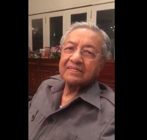 Mahathir Mohamed, former Malaysia prime minister, will run again for the position at age 92, nominated Sunday by the Pakatan Harapan alliance of opposition parties. Photo courtesy Pakathan Harapan/Twitter