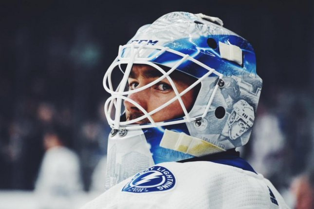 Louis Domingue had his 11th straight win in net Tuesday, and he improved to a 19-4 record. Photo courtesy of Tampa Bay Lightning/Twitter