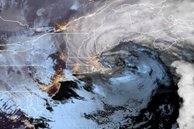 New England was pounded with gusty winds and rain turning into snow Saturday as winter's first nor'easter hit the region. Photo courtesy of National Atmospheric and Oceanic Administration