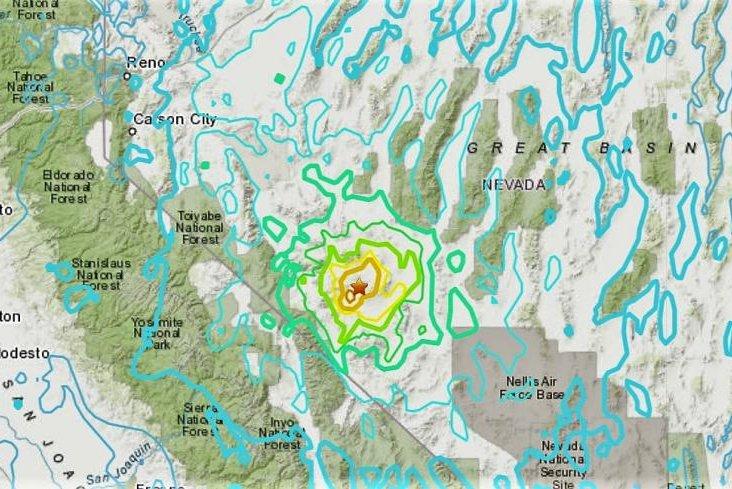 Magnitude-6.5 quake hits Nevada desert, felt in California and Utah
