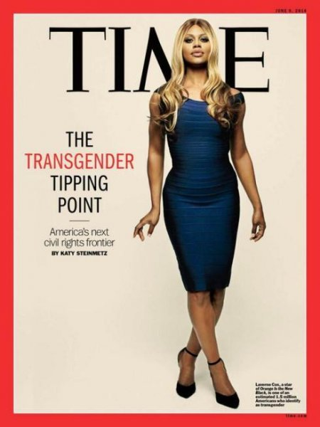 Actress and transgender activist Laverne Cox appears on the June 9, 2014 cover of TIME magazine.